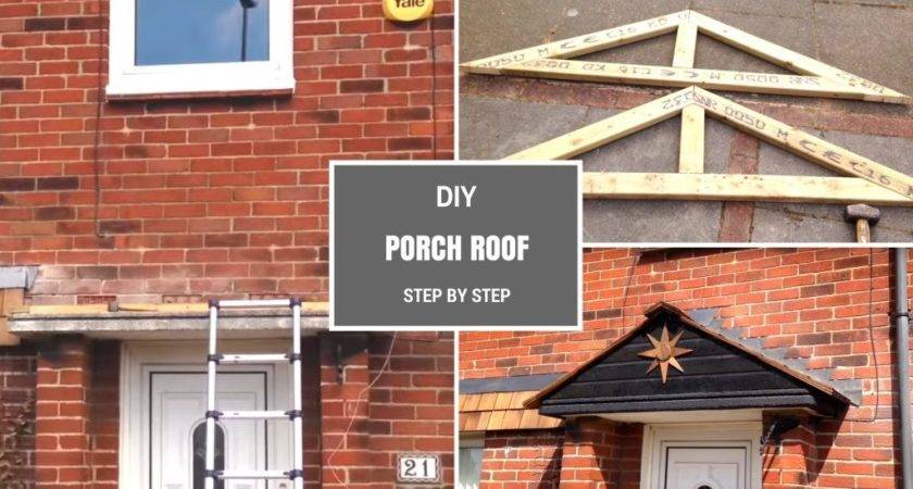 Diy Porch Roof Building Simple Pitched Step