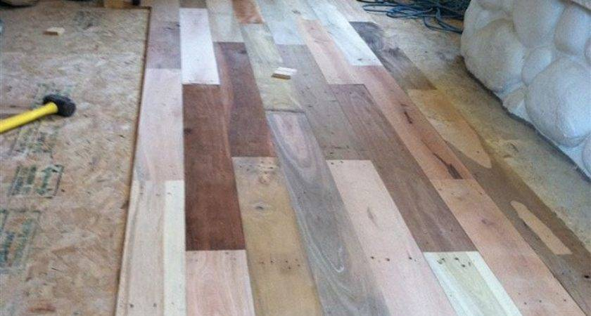 Diy Project Pallet Wood Floor Home Design Garden