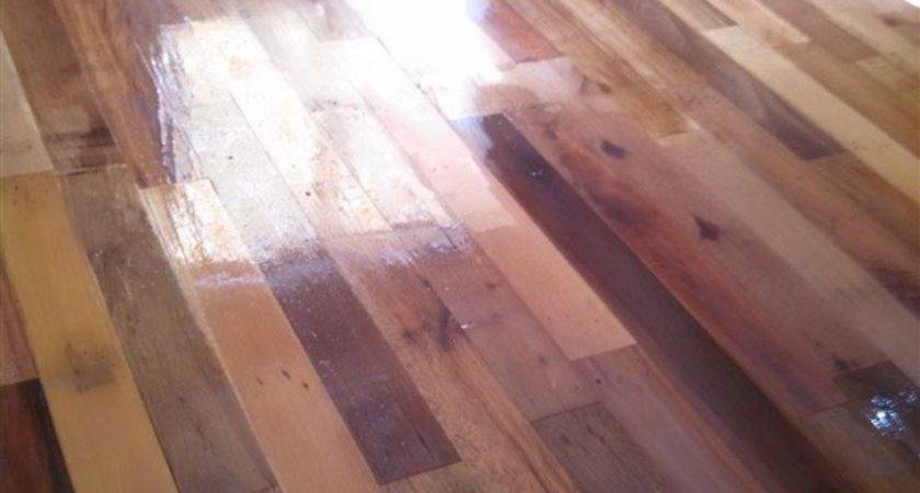 Diy Project Pallet Wood Floor Home Design
