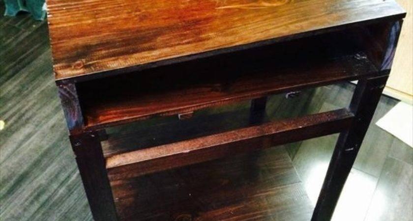 Diy Reclaimed Pallet Table Desk Furniture Plans