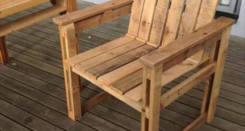Diy Recycled Pallet Chairs Ideas Pallets