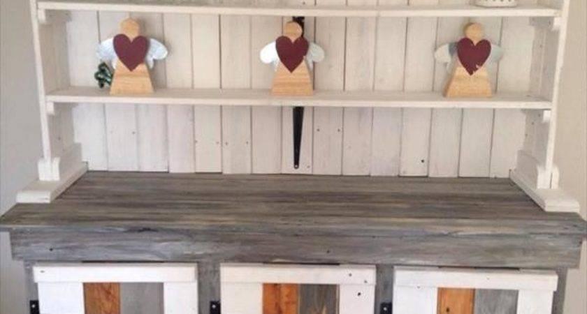 Diy Recycled Pallet Kitchen Furniture Ideas