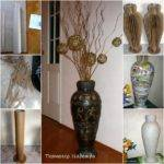 Diy Retro Floor Vase Recycled Cardboard Fab Art