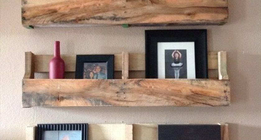 Diy Rustic Pallet Shelf Ideas Make