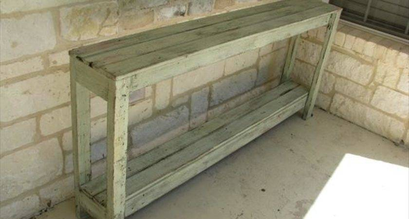 Diy Rustic Pallet Sofa Table Furniture Plans