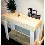 Diy Rustic Wooden Pallet Console Tables Pallets Designs