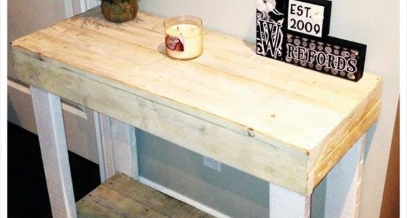 Diy Rustic Wooden Pallet Console Tables Pallets Designs