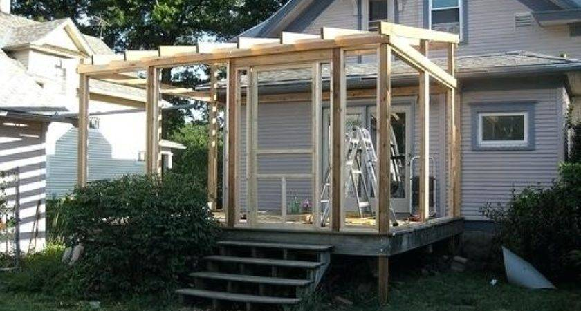 Diy Screen Porch Screened Cost Build Existing