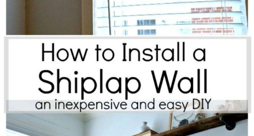 Diy Shiplap Wall Learn Can Install