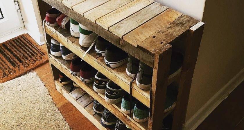 Diy Shoe Rack Pallet