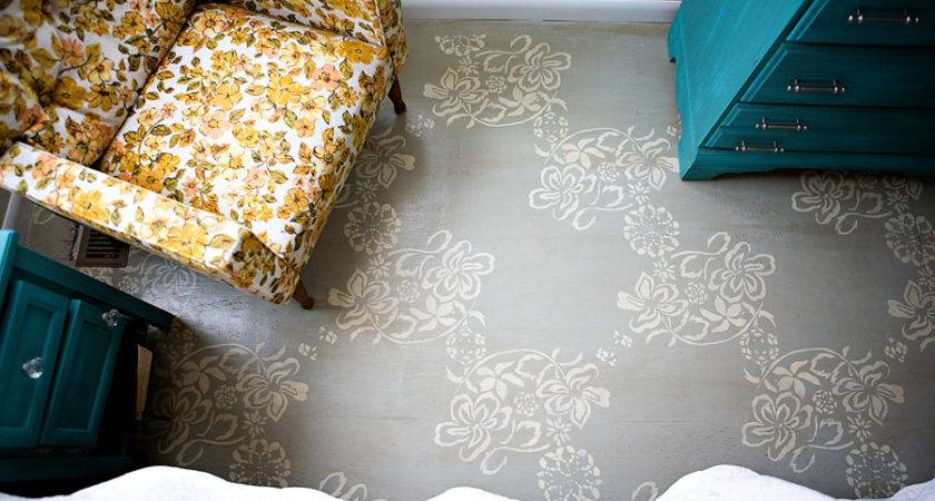 Diy Stencil Painted Subflooring Ashleyannphotography