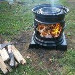 Diy Stove Made Used Tire Rims Ask Prepper