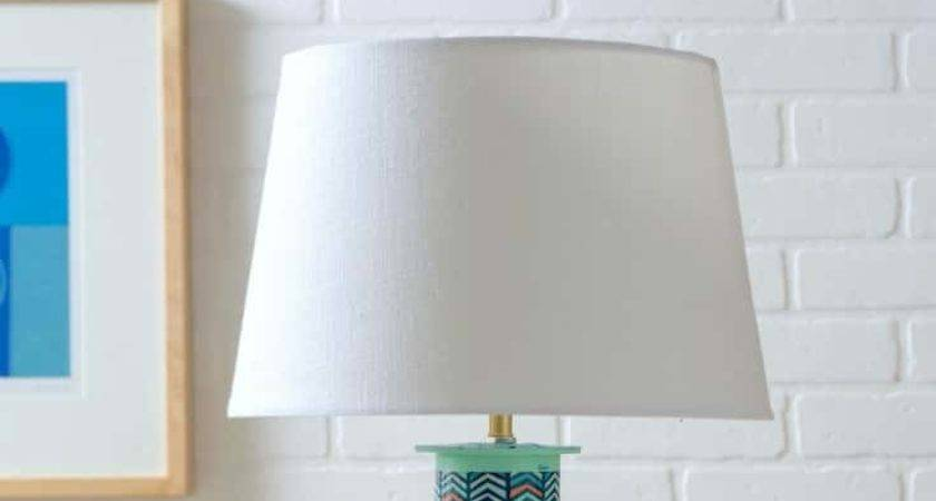 Diy Table Lamp Ribbon Spools Candy