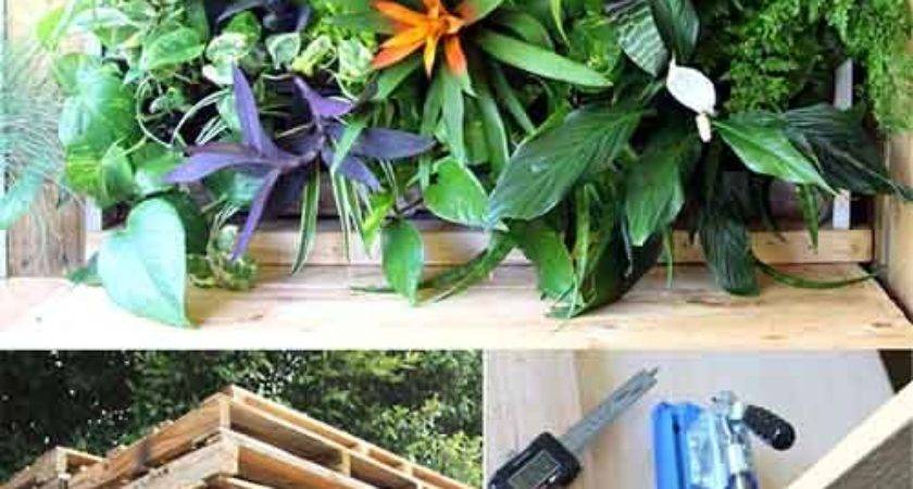 Diy Tropical Pallet Living Wall Lil Moo Creations