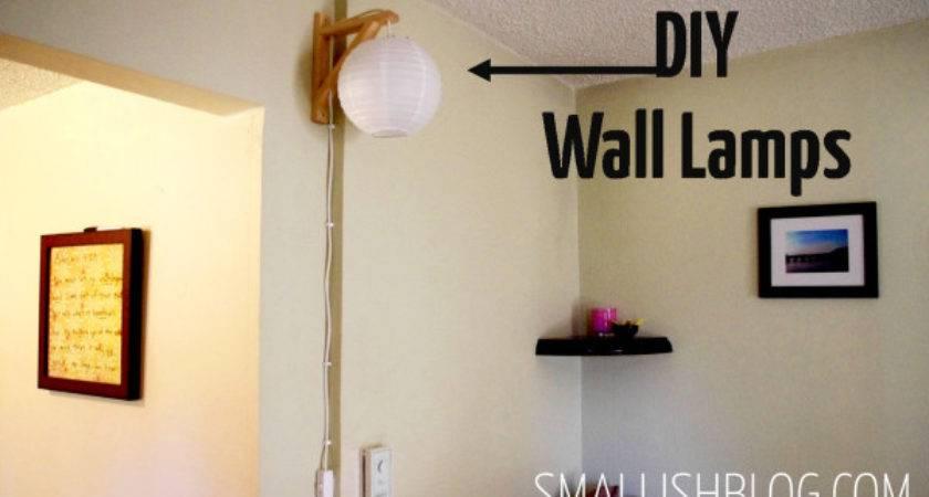 Diy Wall Lamps Smallish