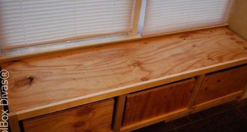 Diy Window Bench Seat Drawer Storage Hometalk