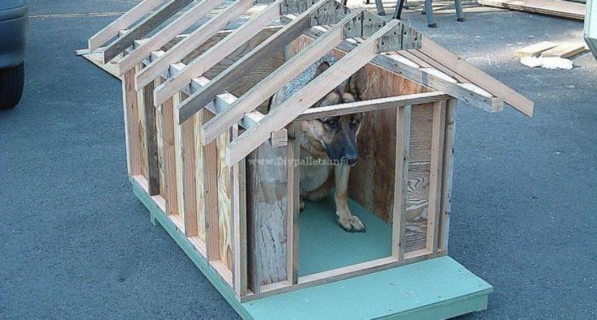 Diy Wood Pallet Dog House Ideas Diypallets Info