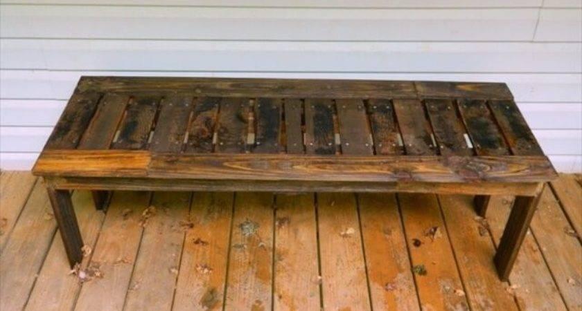 Diy Wooden Pallet Bench Make