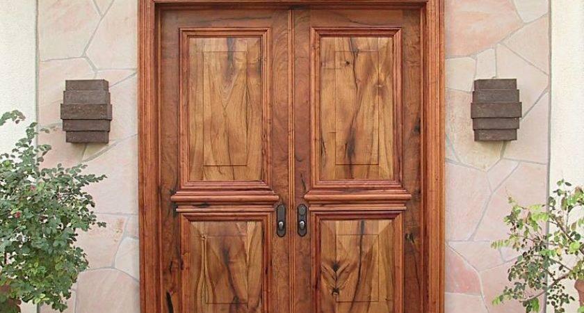 Doors Astonishing Double Wood Custom Front
