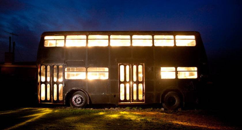 Double Decker Bus Vacation Home Conversion Small