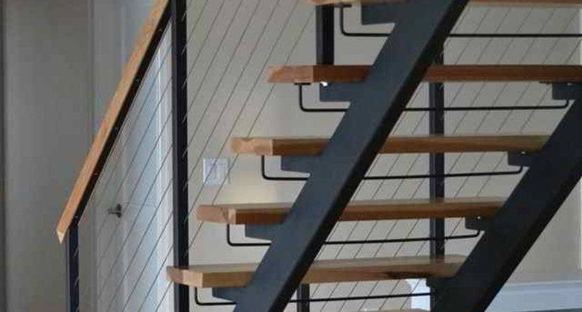 Double Stringer Steel Staircases Wood Treads Nyc