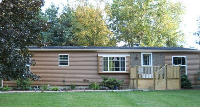 Double Wide Exterior Remodel Mobile Home Living