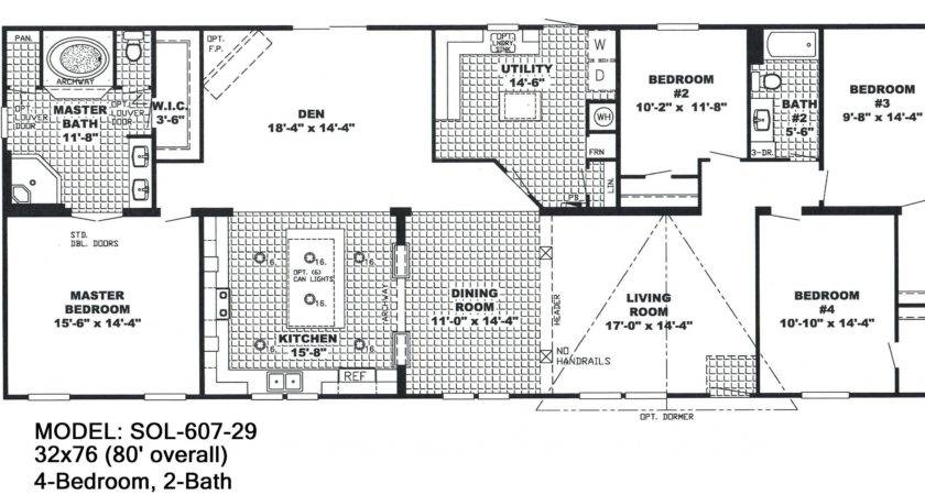 Double Wide Floor Plans Bedroom Bath