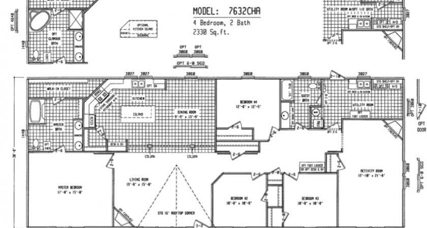 Double Wide Floor Plans Houses Flooring Ideas