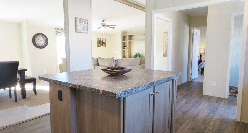 Double Wide Manufactured Home Kitchen Island