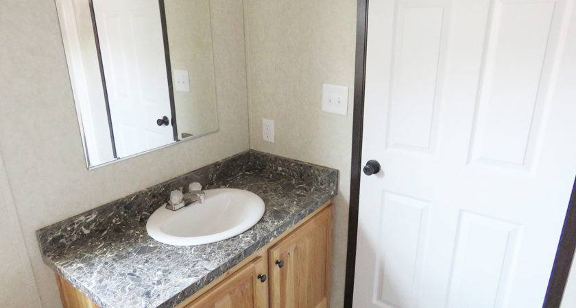 Double Wide Manufactured Home Master Bathroom