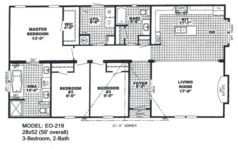 Double Wide Mobile Home Floor Plans Also Bedroom - Get in ...