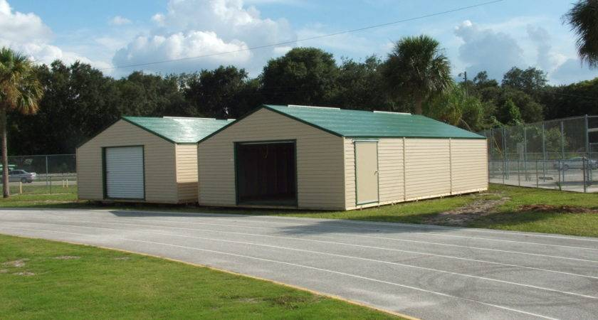 Double Wide Sheds Florida Storage Installation