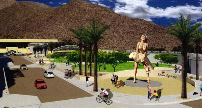 Downtown Palm Springs Park Saves Spot Marilyn
