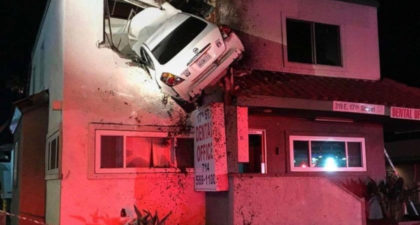 Dramatic Video Captures Car Crashing Into Floor Dental