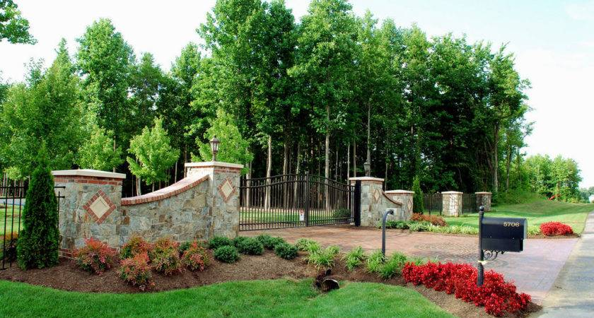 Driveway Entrance Landscaping Ideas Newest Home