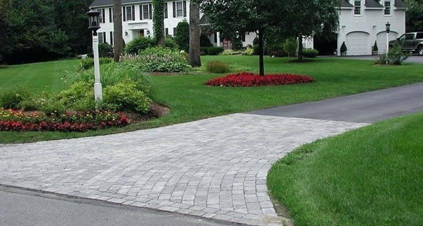 Driveway Landscape Design Circular Front Yard