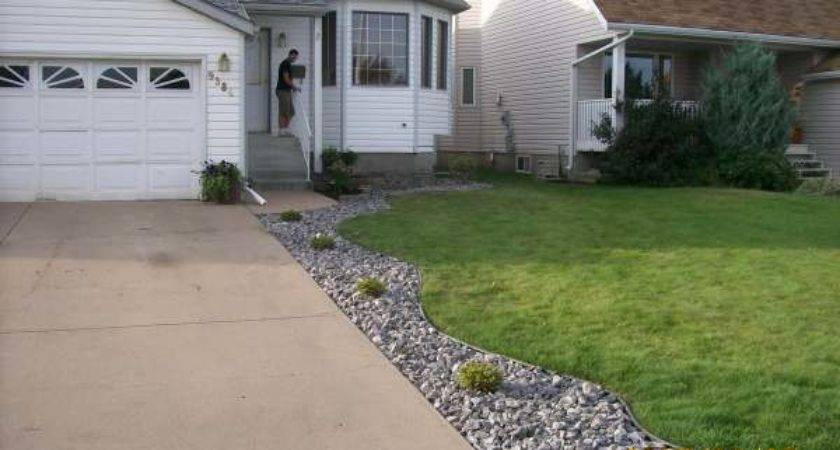Driveway Landscaping Ideas Garden Large