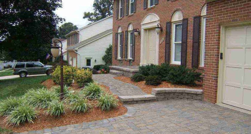Driveway Landscaping Ideas Home Jbeedesigns Outdoor