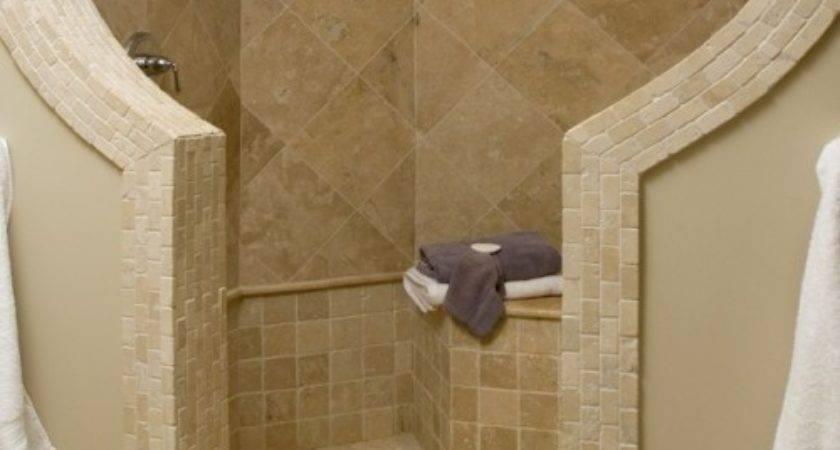 Dual Shower Heads Wonderful Doorless Walk