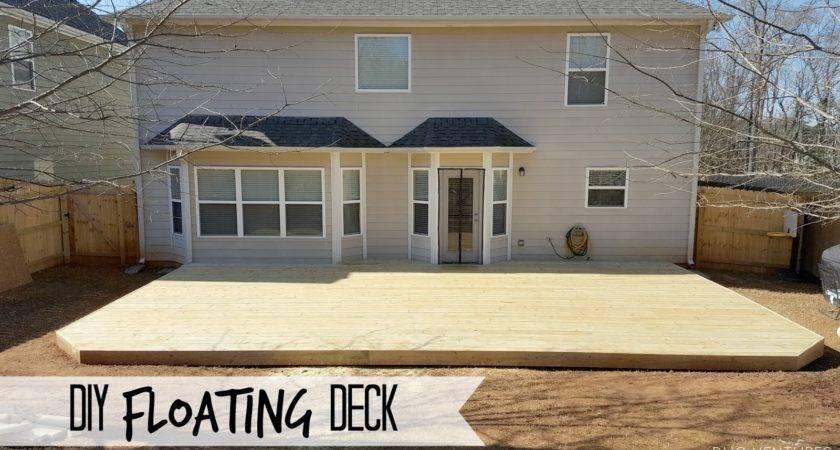 Duo Ventures Diy Floating Ground Level Deck
