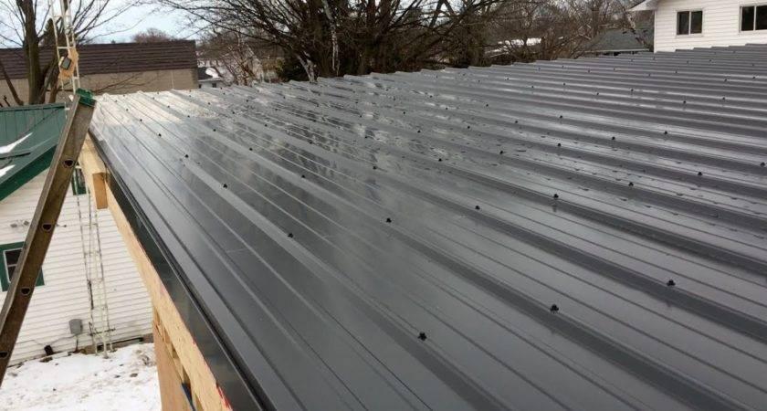 Ebp Metal Roofing Garage Flat Roof Youtube