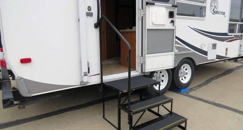 Econo Porch Trailer Step Handrail Landing
