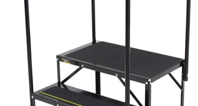 Econo Porch Trailer Step Handrails Landing