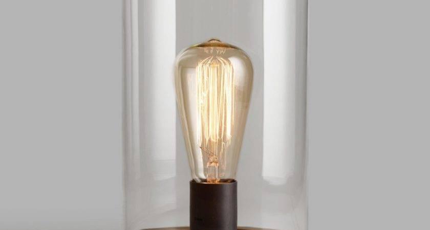 Edison Glass Cloche Table Lamp World Market