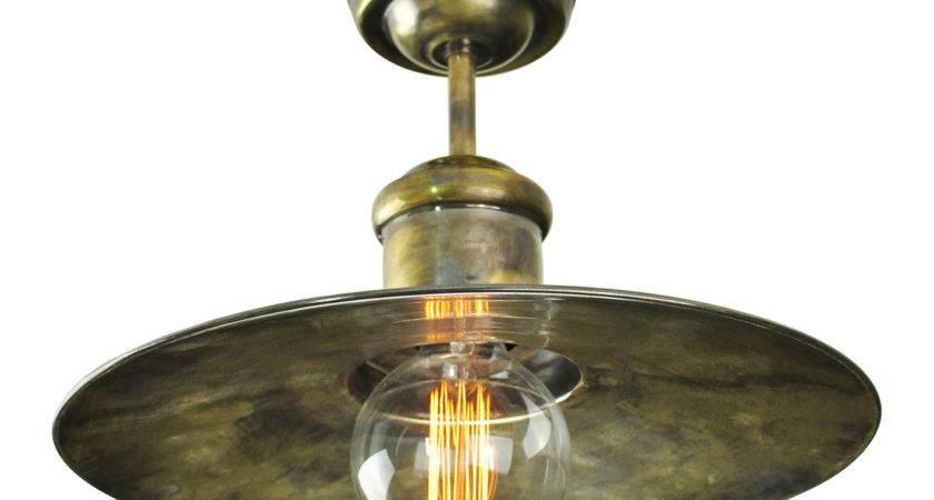 Edison Large Flush Ceiling Light Enlighten Bath