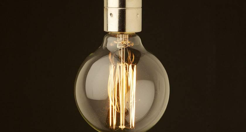 Edison Style Light Bulb Smooth Nickel Fitting