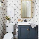 Elegant Printed Small Bathroom Ideas Using