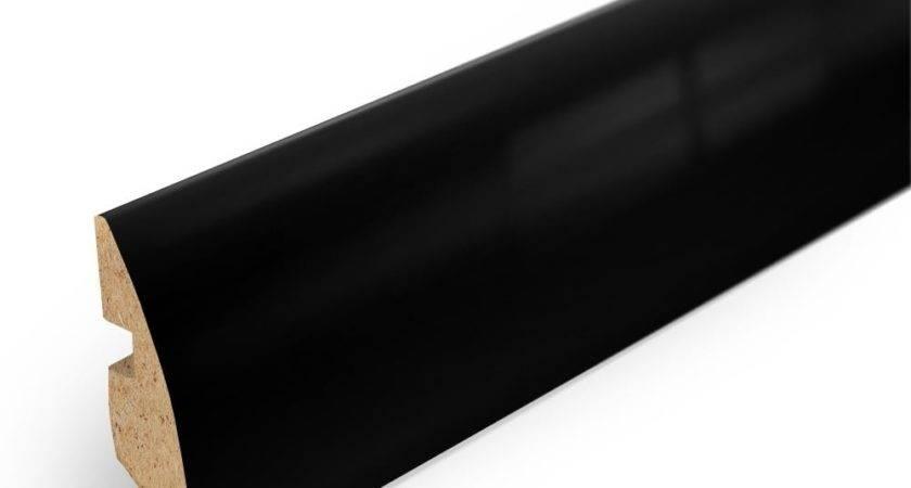Elesgo Black High Gloss Rounded Skirting Board Leader Floors