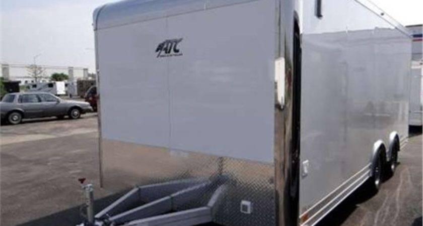Enclosed Aluminum Motorcycle Trailer