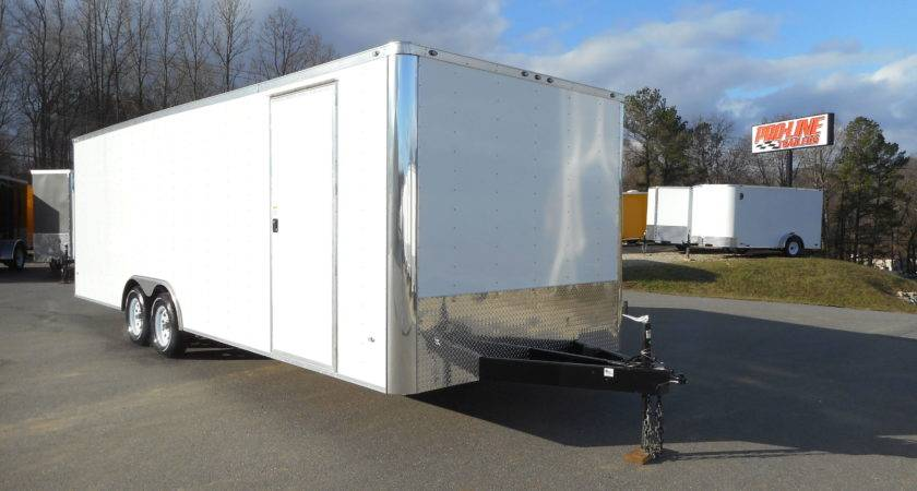 Enclosed Trailer White Walls Ceiling Pro Line